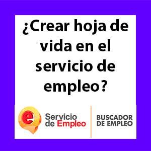 hoja de vida servicio de empleo