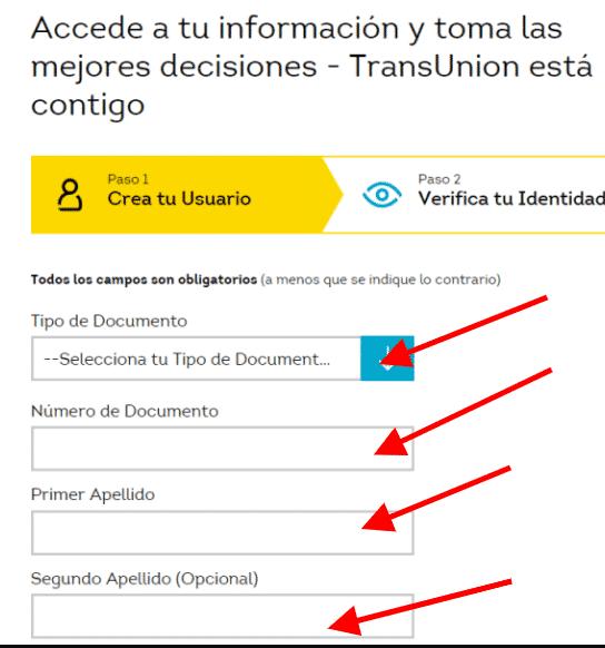 registrarse cifin formulario