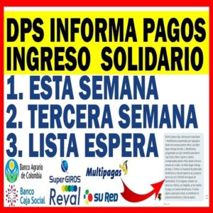 DPS informa PAGOS INGRESO SOLIDARIO Lista Espera