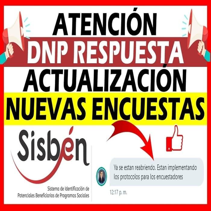 DNP Respuesta SISBEN Actualización - Nuevas Encuestas